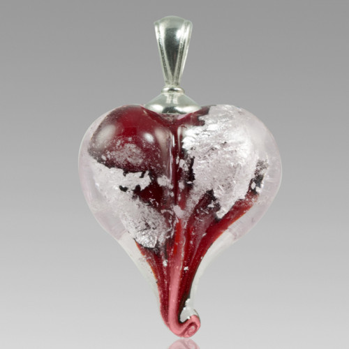 Precious Metals Heart - Silver and Red