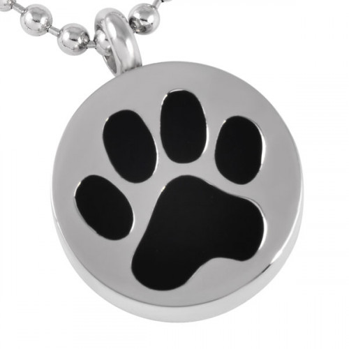 Circle Paw Cremation Pendant