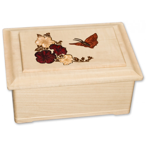 Inlay Wood Cremation Urn for Ashes