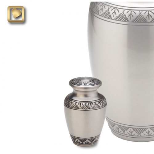 Keepsake Classic Pewter Cremation Urn for Ashes