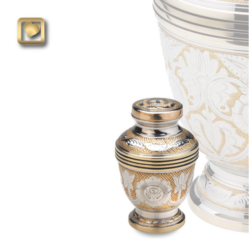 Keepsake Ornate Floral Cremation Urn for Ashes