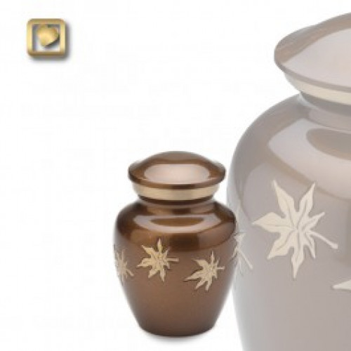 Keepsake Autumn Leaves Cremation Urn for Ashes