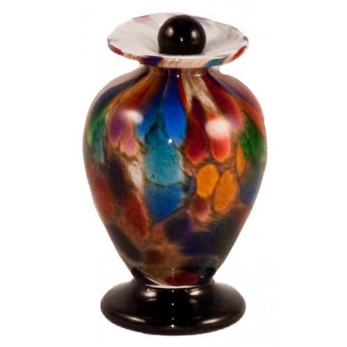 Amato Autumn Hand Blown Glass Keepsake Cremation Urn