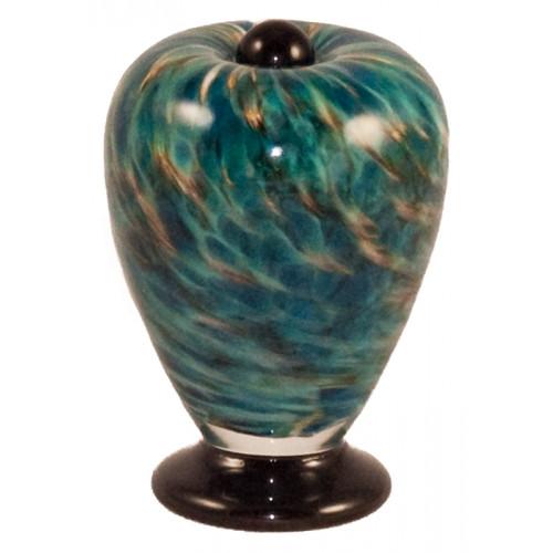 Deco Aegean Hand Blown Glass Keepsake Cremation Urn