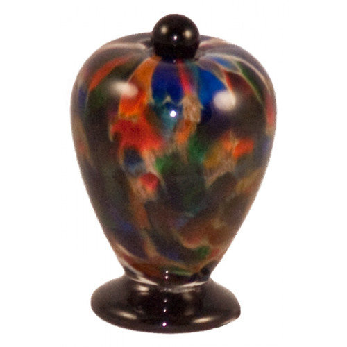 Deco Autumn Hand Blown Glass Keepsake Cremation Urn