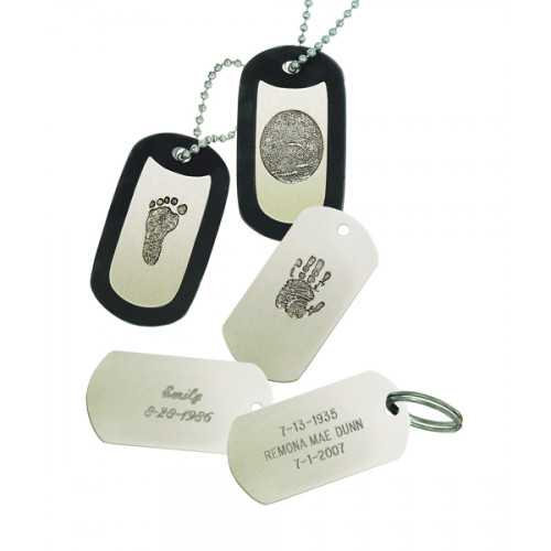 Noble Bronze Key Tag Fingerprint Charm Style 1