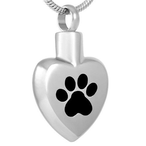 Large Paw on My Heart Cremation Pendant