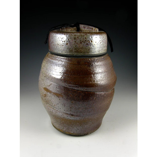 The Large Shino Raku Ceramic Cremation Urn