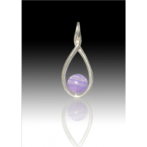 Melody Twist Cremation Pendant - Lavender - Sterling Silver