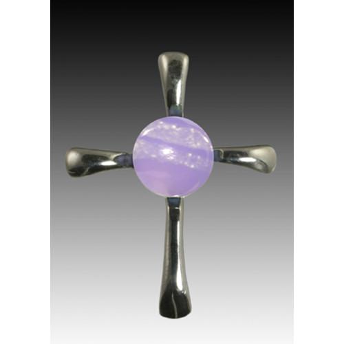 Symphony Cross Pendant - Lavender - Sterling Silver