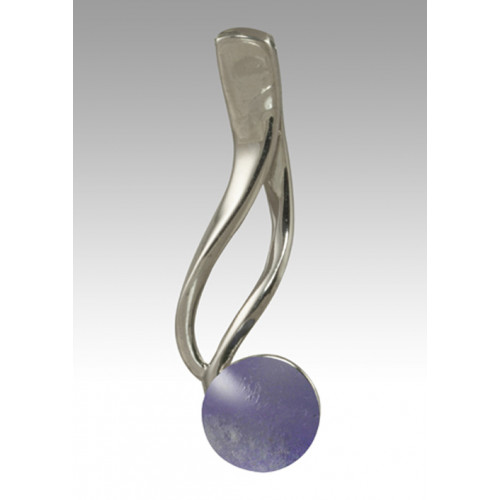 Tempo Glass Bead Cremation Pendant - Lavender - Sterling Silver