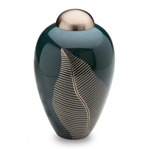 Emerald Leaf Cremation Urn