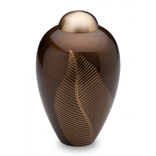 Bronze Leaf Cremation Urn