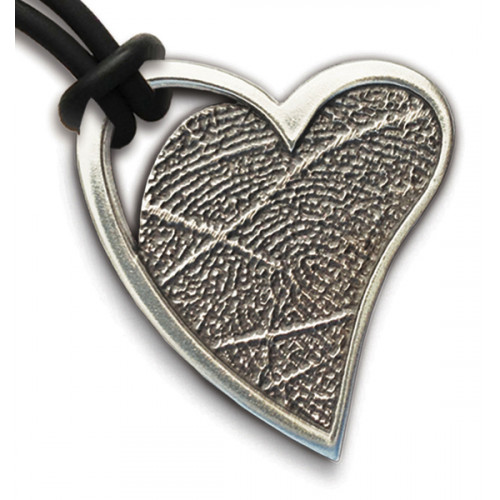 Noble Bronze Open Heart Fingerprint Charm
