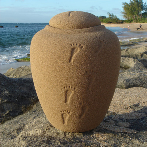 Biodegradable Prints in the Sand Urn