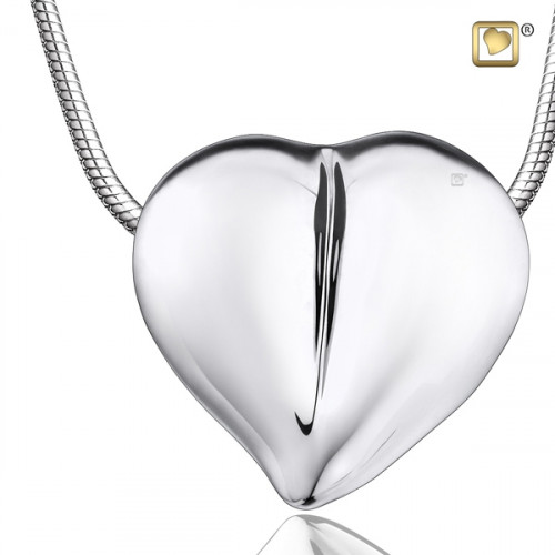 Silver LoveHeart Cremation Pendant
