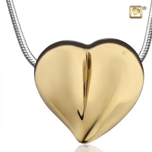 Gold LoveHeart Cremation Pendant