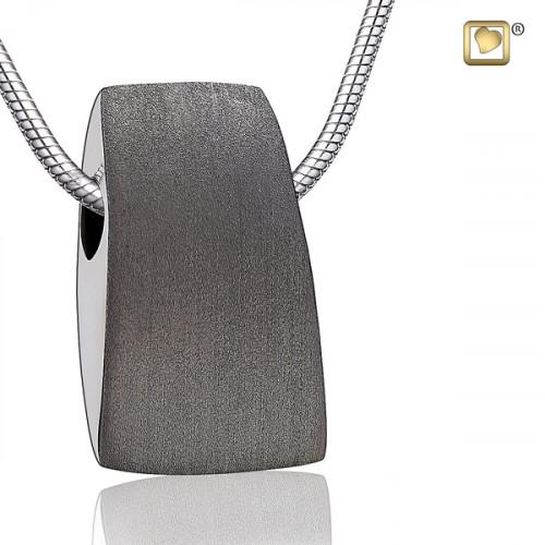 Silver Satin Tribute Cremation Pendant