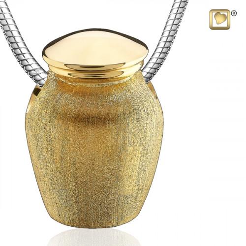 Gold Urn Cremation Pendant