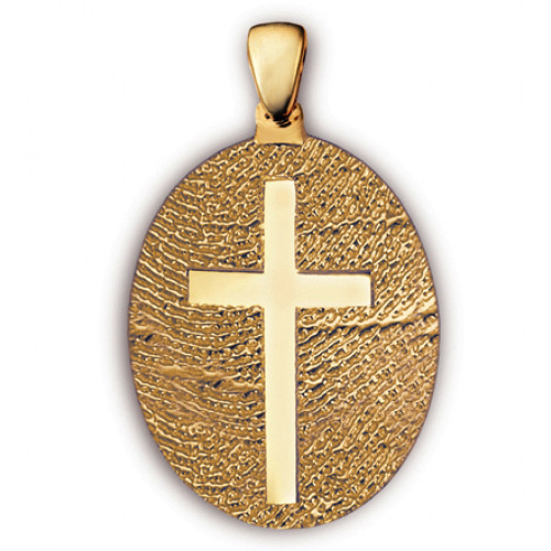 Classic Large Cross Fingerprint Charm