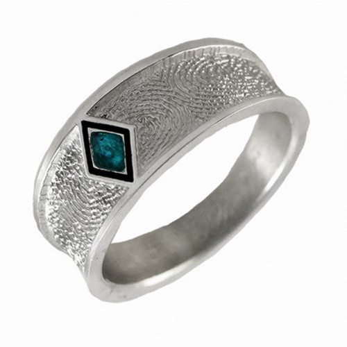 Phoenix Tapered Band Ring in Sterling Silver