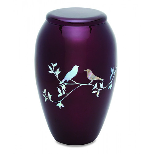 Purple Doves Cremation Urn for Ashes