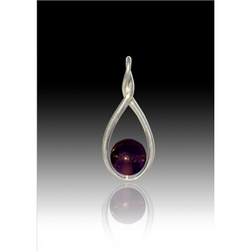 Melody Twist Cremation Pendant - Purple - Sterling Silver