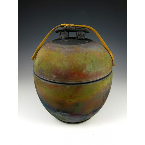 The Quiet Temple Three Raku Ceramic Cremation Urn