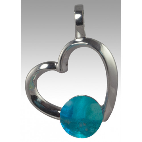 Rhythm Glass Bead Pendant - Sterling Silver