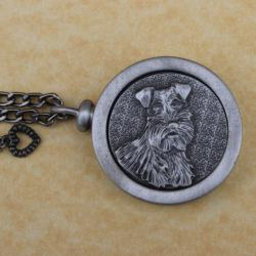 Schnauzer Pet Memory Cremation Medallion