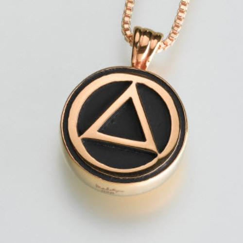 Serenity Cremation Pendant in Gold Vermeil