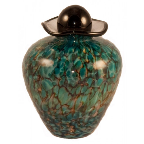 Bella Aegean Hand Blown Glass Pet Cremation Urn