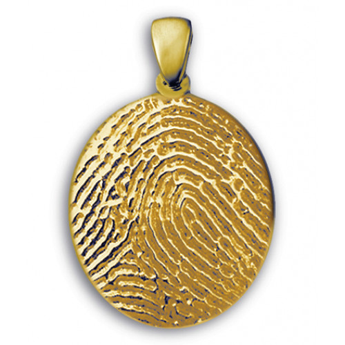 Classic Medium Fingerprint Charm in 14k Yellow Gold