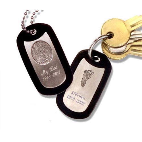 Noble Bronze Key Tag Fingerprint Charm Style 2