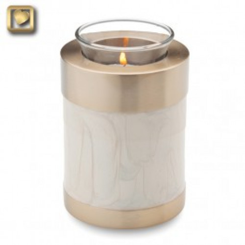 TeaLight Pearl Cremation Urn for Ashes