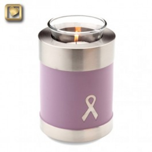 TeaLight Awareness Pink Cremation Urn for Ashes