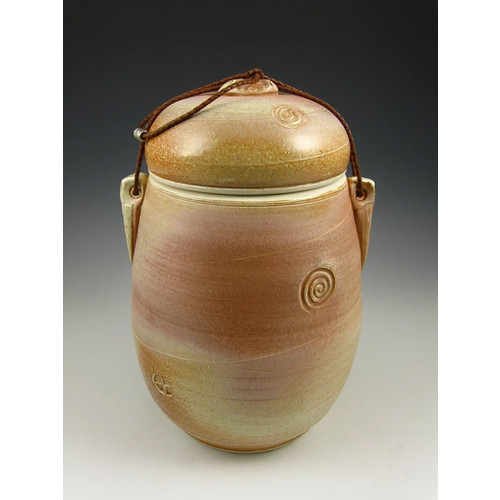 The Desert Sun Soda Fired Ceramic Cremation Urn