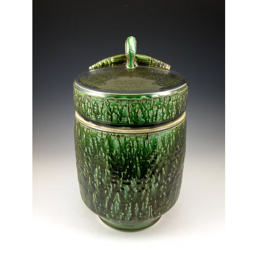 The Mossy Gem Soda Fired Ceramic Cremation Urn