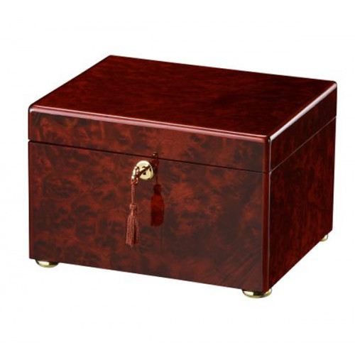 The Tranquility Memorial Chest Urn in Dark Burl