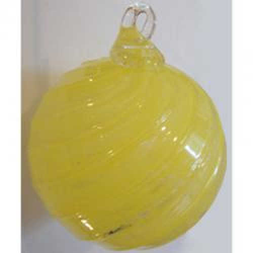 Timeless Sphere Cremation Ornament - Yellow