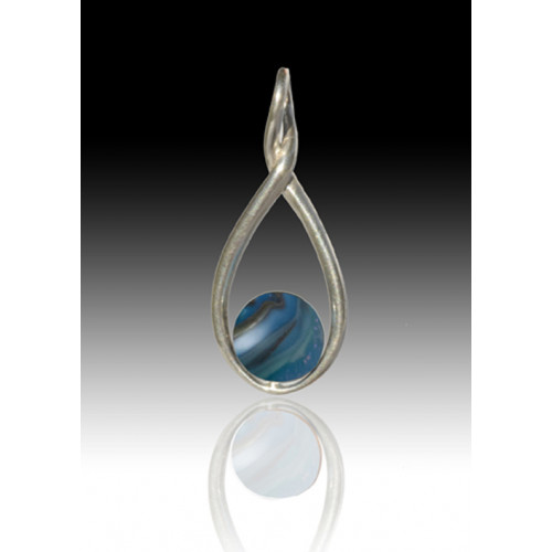 Melody Twist Cremation Pendant - Twilight - Sterling Silver
