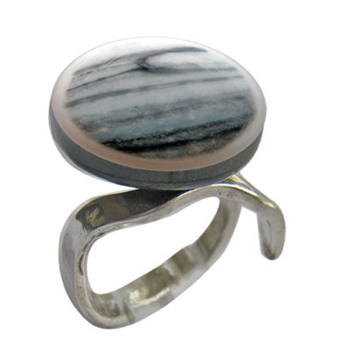 VL Blue and Gray Ring