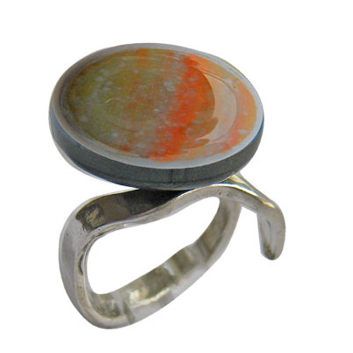 VL Orange and Gold Ring