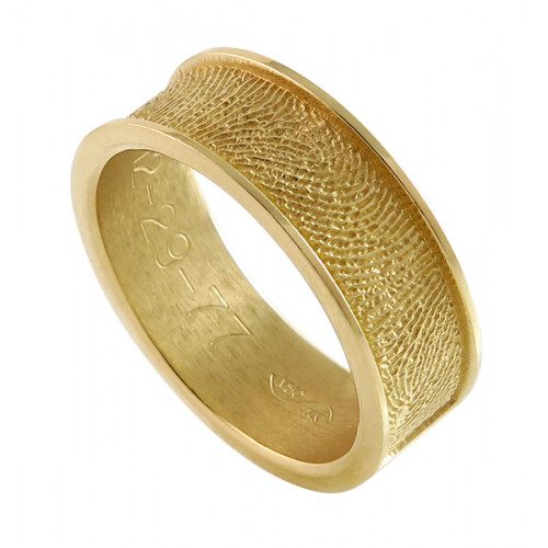 Remembrance Band Ring in 14k Yellow Gold