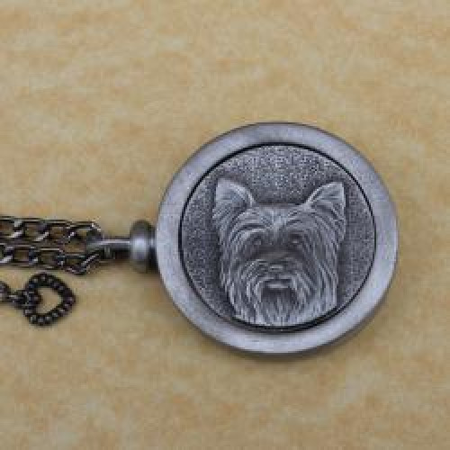 Yorkie Pet Memory Cremation Medallion