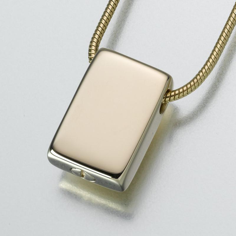 slide rectangle cremation ashes jewelry keepsake