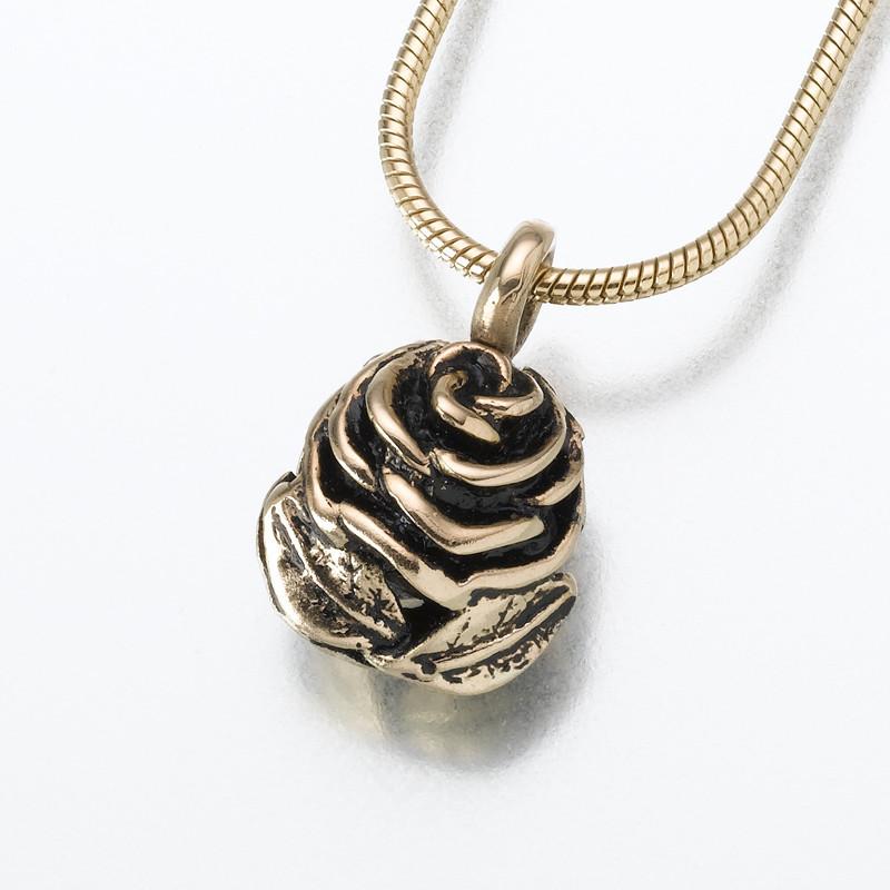 Rose Cremation Ashes Jewelry Pendant Keepsake