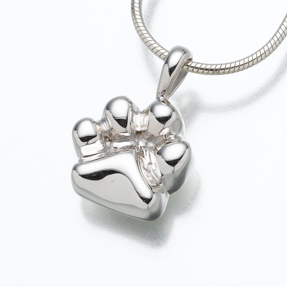 The Paw Paw Print Cremation Pet Ashes Jewelry