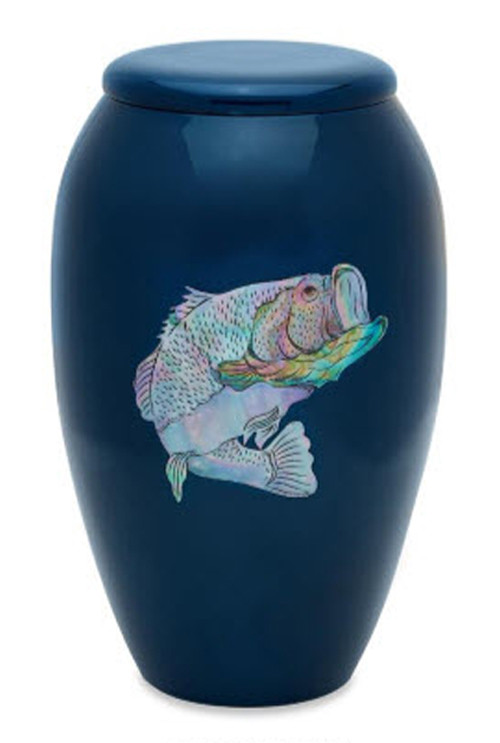 Mother Of Pearl Bass Urn Cremation Solutions