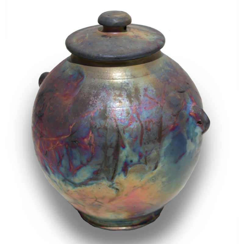 Raku Ceramic Artisan Urn Cremation Ashes